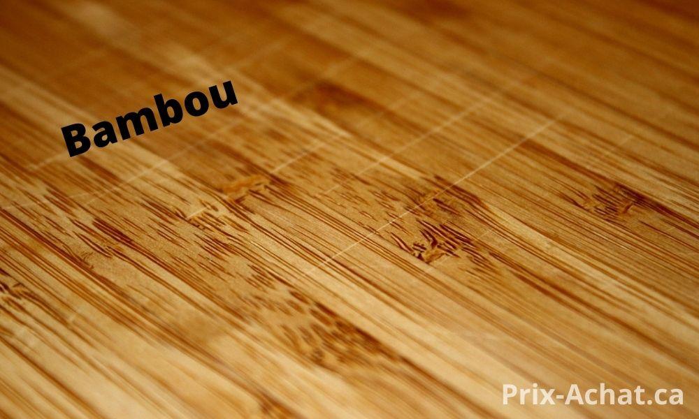 Prix d'un plancher en bambou