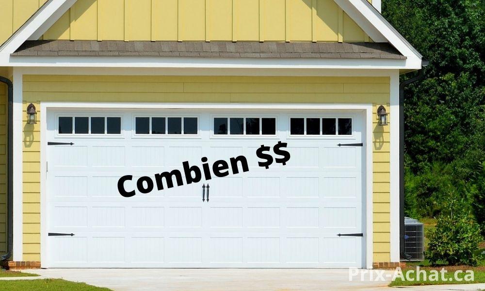 Quel est le meilleur prix pour une porte de garage simple ou double?